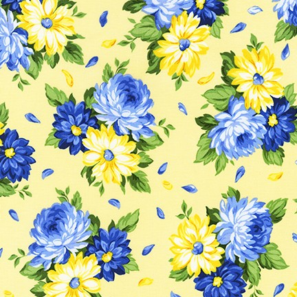 Flowerhouse: Sunshine fabric