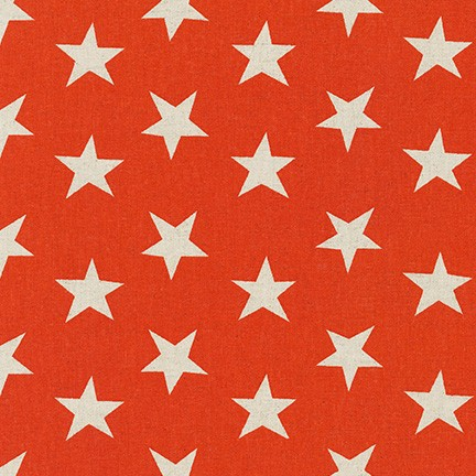 Sevenberry: Canvas Natural Stars fabric