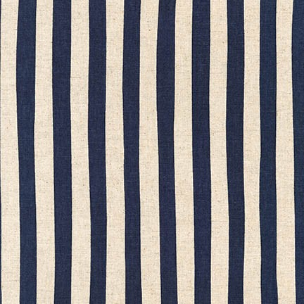 Sevenberry: Canvas Natural Stripes fabric