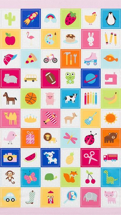 9db11607130 Robert Kaufman Fabrics  I-Spy Panel by Ann Kelle  Cotton Novelty ...