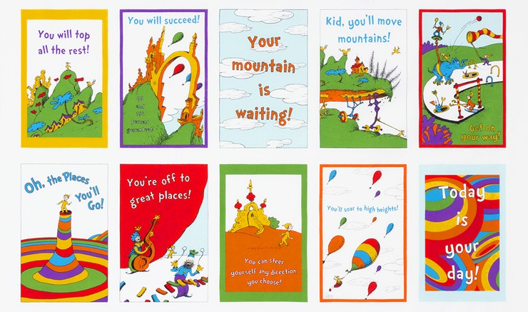 Robert Kaufman Fabrics Oh The Places Youll Go By Dr Seuss