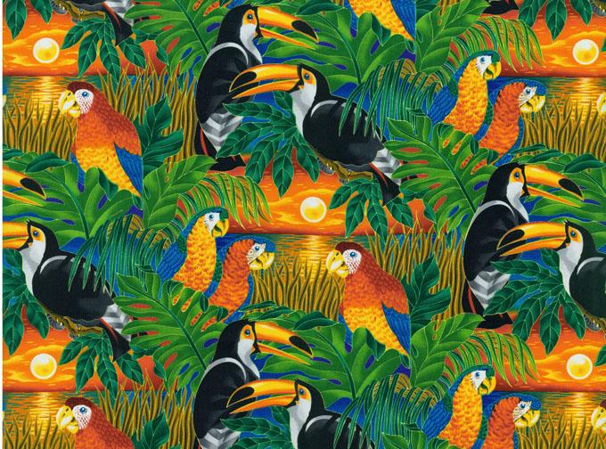 Robert Kaufman Fabrics Wildlife Paradise Cotton Tropical