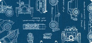 Pattern Vintage Blueprints