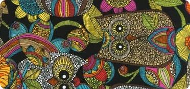Robert Kaufman Fabrics Owl S Nest Cotton Novelty Print