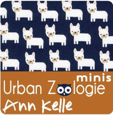 Mini Foxes Fabric Urban Zoologie Minis AAK-15307-237 Bermuda by Robert Kaufman