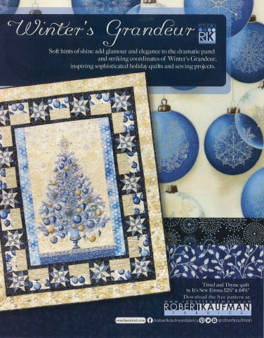 Robert Kaufman Fabrics: Media | Winter's Grandeur (full page)