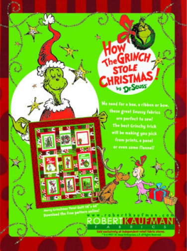 Robert Kaufman Fabrics: Media | How The Grinch Stole Christmas