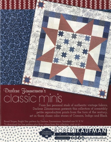 Robert Kaufman Fabrics: Media | Classic Minis from Darlene Zimmerman