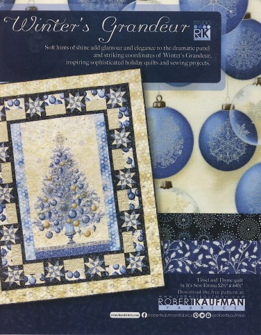 Robert Kaufman Fabrics: Media | Winter's Grandeur