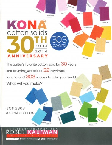 Robert Kaufman Fabrics: Media | Kona Cotton Solids 30th Anniversary (full)