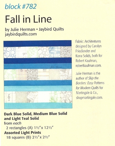 Fall in Line quilt block by Julie Herman