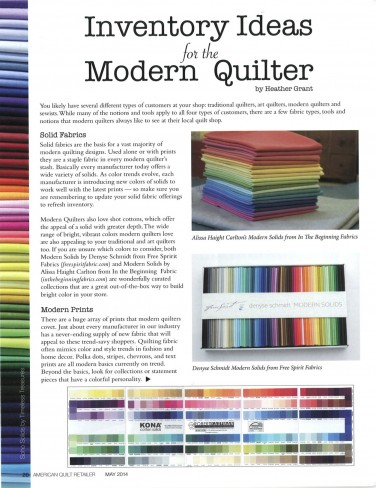 Inventory Ideas for the Modern Quilter