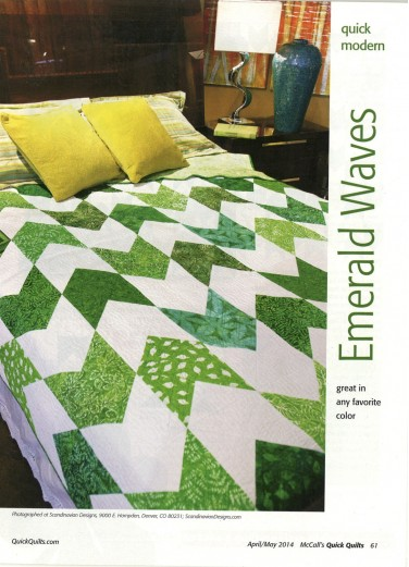 Emerald Waves quilt