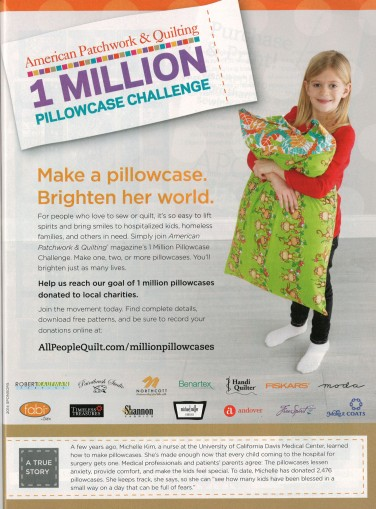 American Patchwork & Quilting 1 Million Pillowcase Challenge