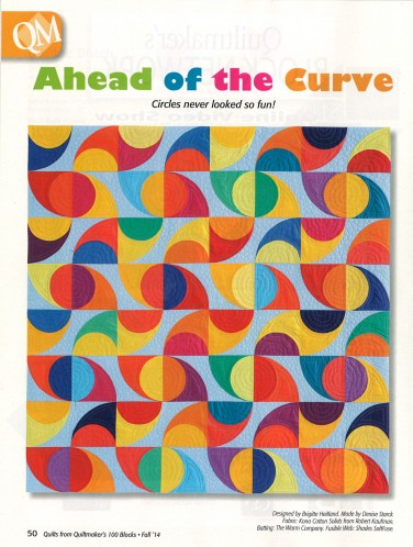 Ahead of the Curve Quilt featuring Kona