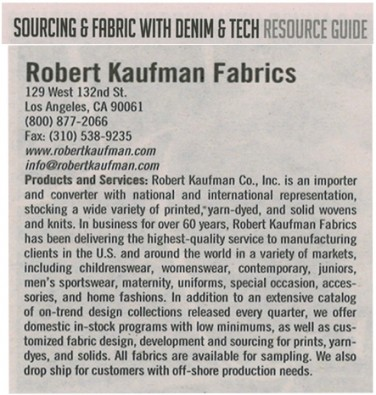 Sourcing & Fabric With Denim & Tech Resource Guide