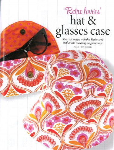 Hat and Glasses Case featuring Auntie's Attic Canvas