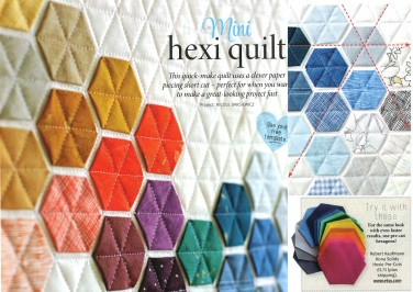 Mini Hexi Quilt featuring Robert Kaufman Fabric!
