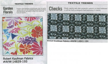 Textile Trend features!