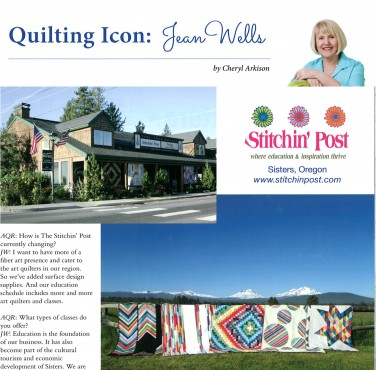 Jean Wells spotlight featuring Valori Wells' Blueprint Basics Quilts!