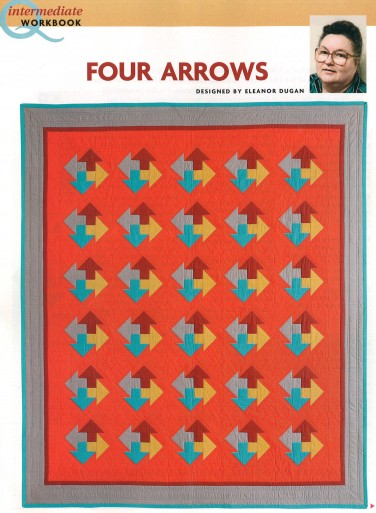 Four Arrows quilt ft. Kona Cotton