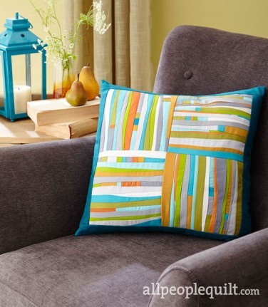 Jean Wells' pillow 'Piece & Play' featuring Kona!