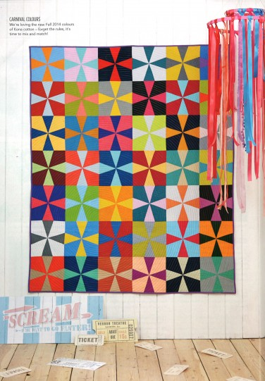 Colour Me Happy quilt ft Kona Cotton