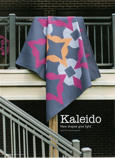 Kaleido quilt ft. Kona Cotton