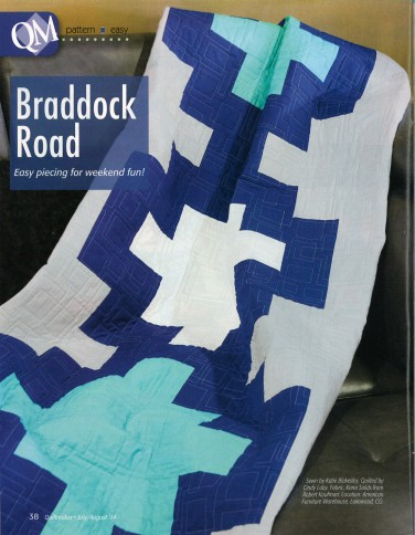 Braddock Road quilt featuring Kona Cotton