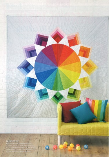 """Colour Wheel"" quilt by Holly DeGroot"