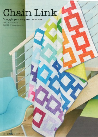 Chain Link quilt featuring Kona Cotton