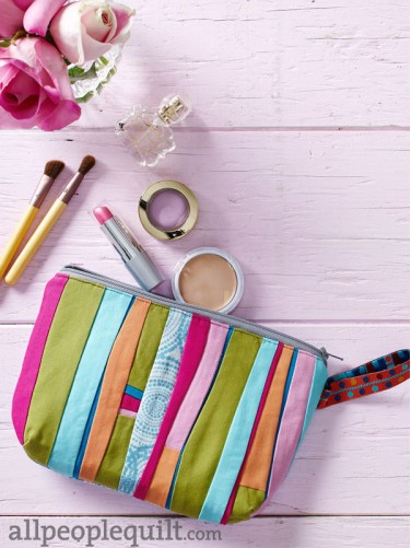 Piece & Play Zippered Pouch by Jean Wells ft. Kona Cotton