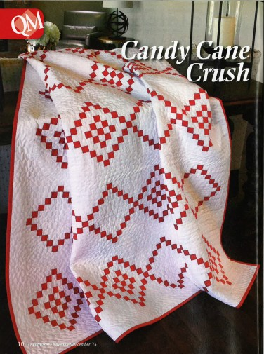 Candy Cane Crush quilt ft. Kona Cotton