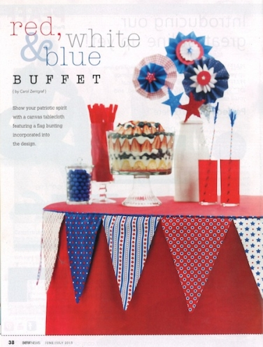 Red, White & Blue Buffet