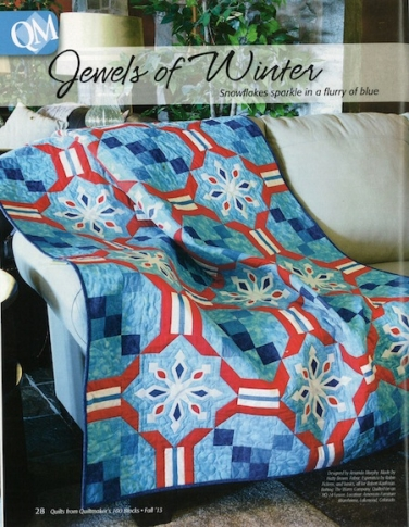 Jewels of Winter quilt