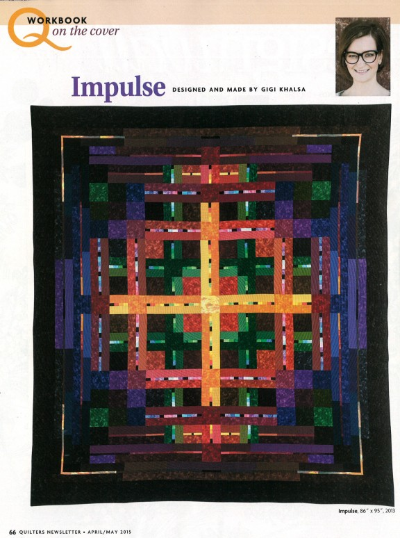 Print Editorial 2015 Quot Impulse Quot Quilt By Gigi Khalsa