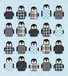 Fabric Penguin Party