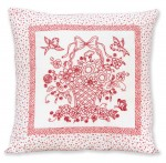 Fabric Blossom Basket Pillow