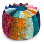 Fabric Patchwork Pouf