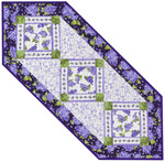 Pattern Lilac Garden Runner: Purple