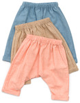 Pattern Baby and Toddler Harem Pants: Sizes:0-6M