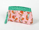Pattern Pleated Wristlet