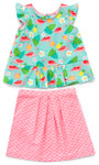 Pattern Butterfly Blouse and Skirt: Sizes: 6M-24M