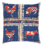 Fabric 4th on the Farm Pillow