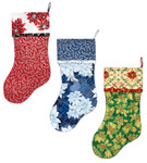 Fabric Sleigh Bell Stockings