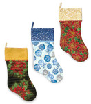 Fabric Sleigh Bells Stockings