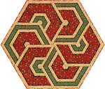 Pattern Triangle Frenzy Hexagon Table Topper