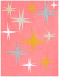 Fabric Stars Over Pink Flamingo