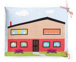 Fabric Let's Play House Pillow