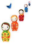 Fabric Little Kukla Dolls